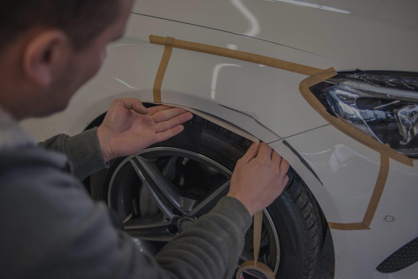 Abkleben des Autos Krafa Autolackiererei Herne